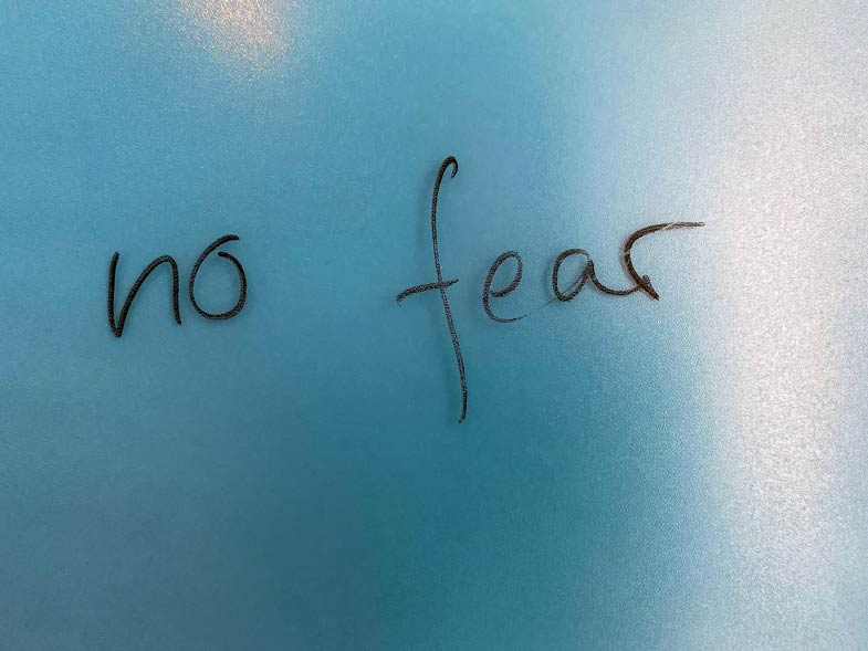 do not let fear